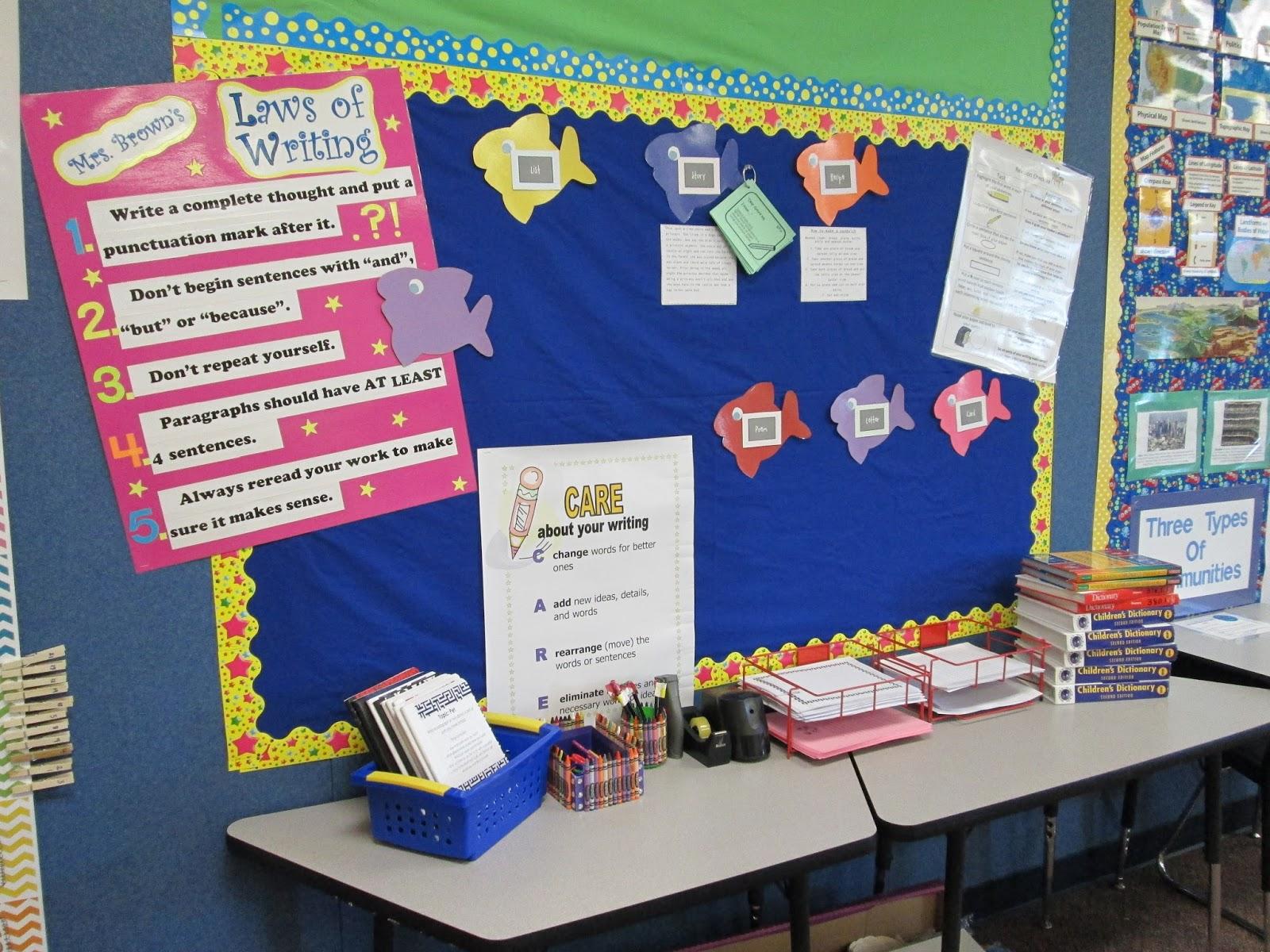 Classroom Ideas Back To School ~ Adventures in third grade under the sea classroom tour