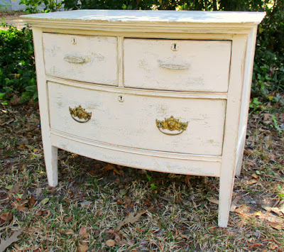 vintage dresser, dresser makeover, distressed painting