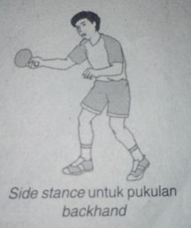 gerakan side stance dalam tenis meja