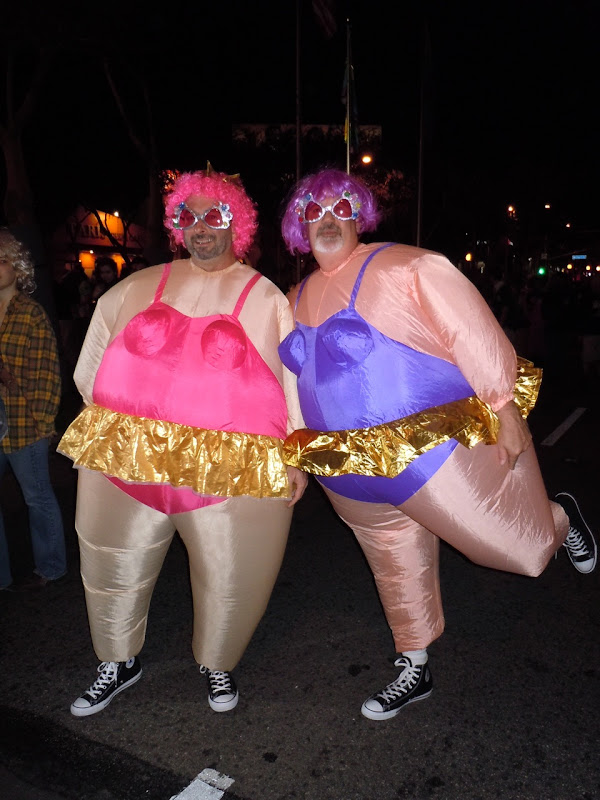 West Hollywood Halloween Carnaval 2010 fat-suits