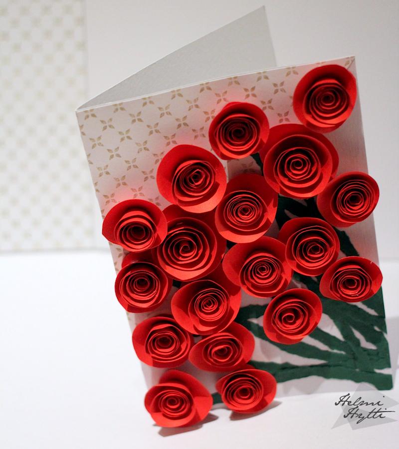 yo kortti ruusu paperi