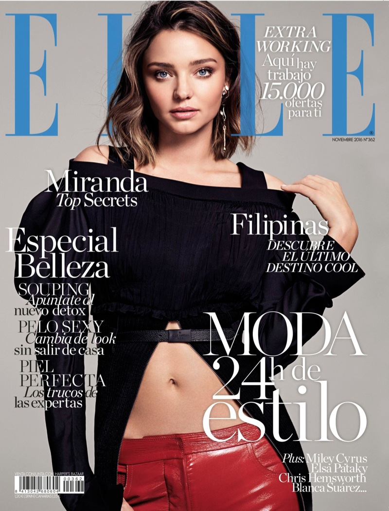 Miranda Kerr wears Louis Vuitton for Elle Spain November 2016