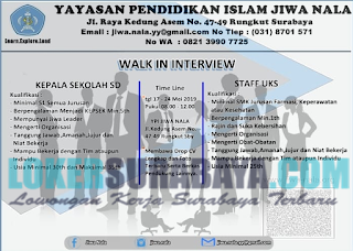 Walk In Interview di Yayasan Pendidikan Islam Jiwa Nala Surabaya Terbaru Mei 2019