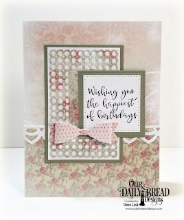 Our Daily Bread Designs Stamp Set: Today And Everyday, Paper Collection: Shabby Rose, Custom Dies: Rectangles, Squares, Pierced Squares, Deco Border, Small Bow, Circle Scalloped Rectangles