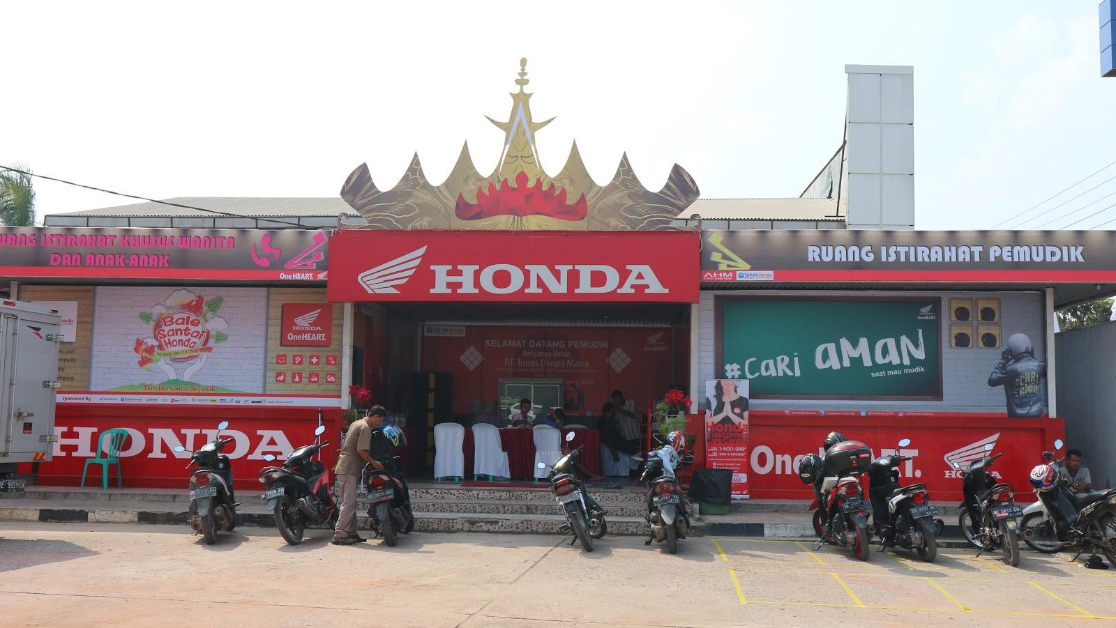 Bale Santai Honda Yang Ada Di Lampung Manjakan Pemudik Di Gerbang Pulau Sumatera