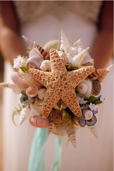 beach themed wedding bouquet