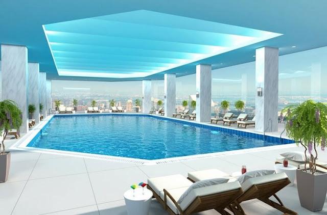 Bể bơi Sun Grand Quảng An.