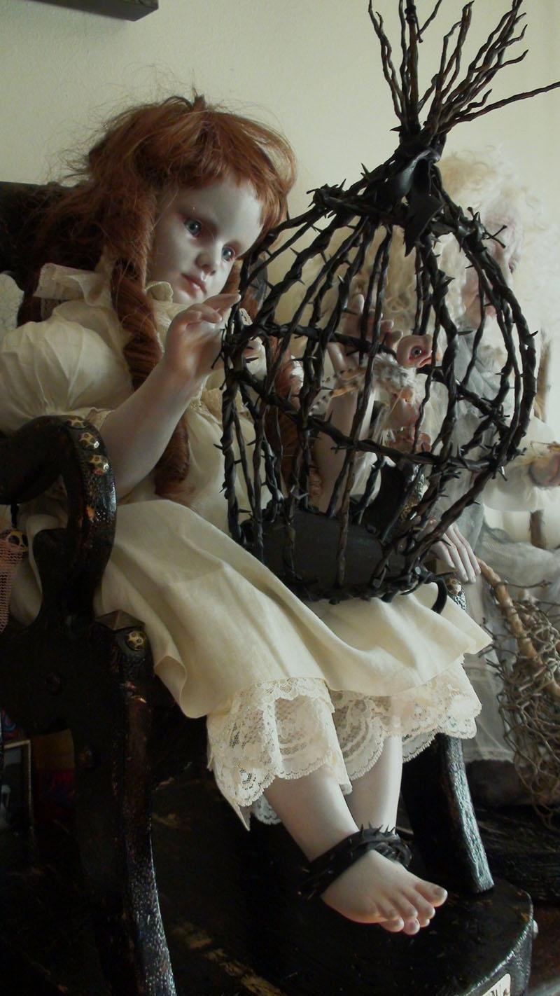 Taxidermy Doll Sculptures by Stefanie Vega