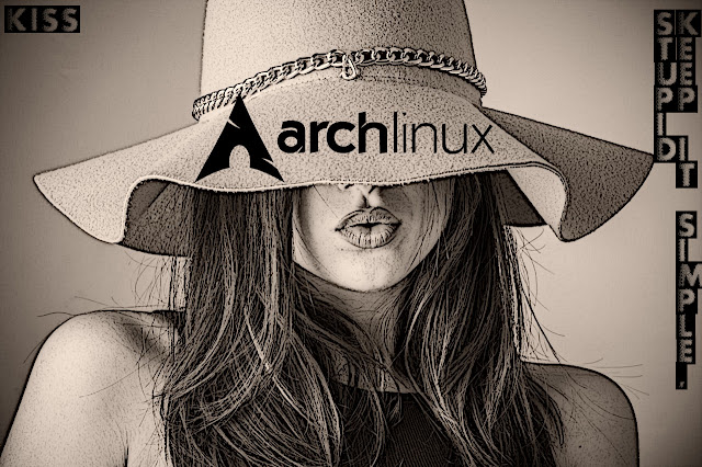 ArchLinux Wallpaper Kiss Girl