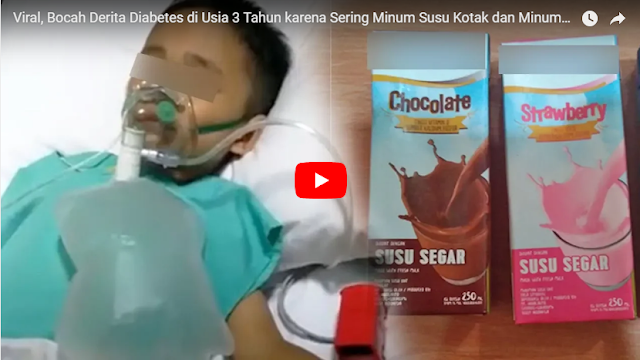 Balita ini Derita Diabetes Diduga Karena Sering Minum Susu Kemasan
