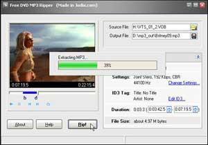 Free DVD MP3 Ripper – Extrair áudio do DVD para MP3