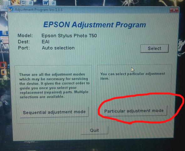 Программу обнуления счетчика принтера epson p50