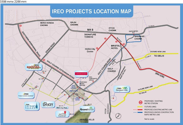 Location map - Ireo Skyon