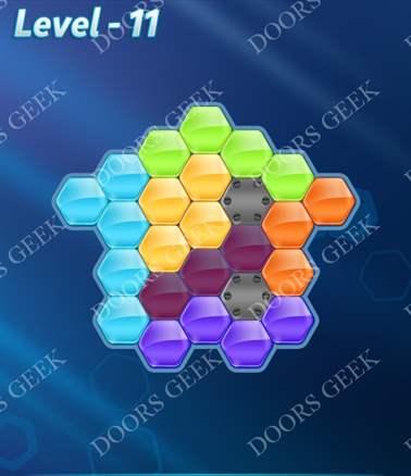 Block! Hexa Puzzle [6 Mania] Level 11 Solution, Cheats, Walkthrough for android, iphone, ipad, ipod