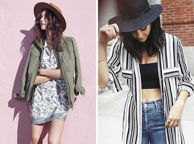 Девушка в фетровой шляпе федоре летом