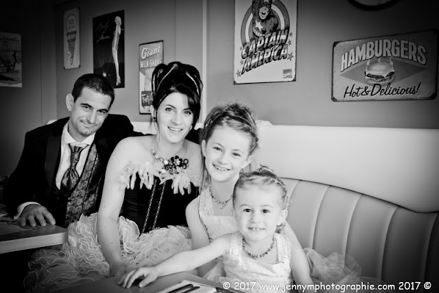 portrait mariés photos couple famille avec filles