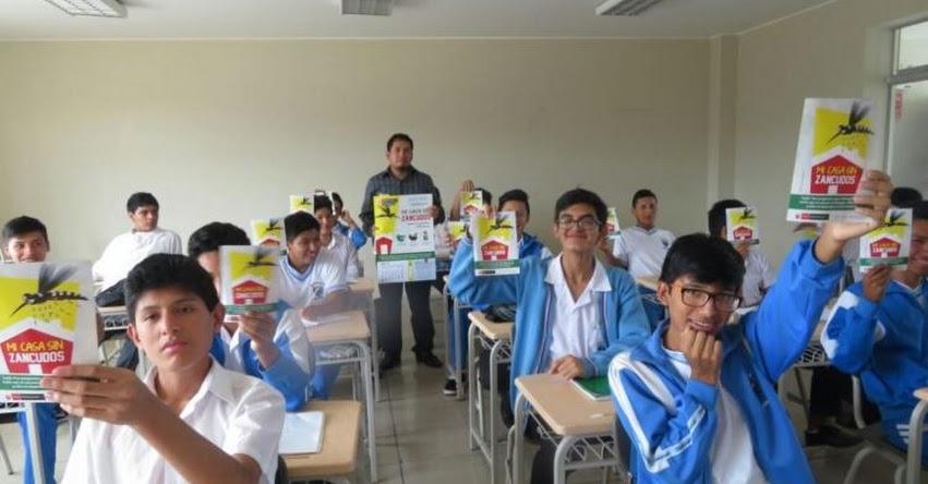 Cerca de 7 mil escolares de Huaura reciben material del MINSA sobre prevención del dengue - www.minsa.gob.pe