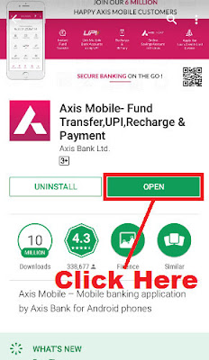 how to activate mobile banking in axis bank
