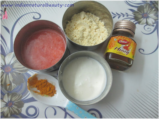 All Natural Face Pack to Remove Tan: DIY
