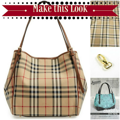 Emmaline Bags:  Sewing Patterns and Purse Supplies: Handmade Couture: Make this look - Burberry Small Canter Check Tote.