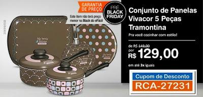 Pré Black Friday Conjunto de Panelas Tramontina