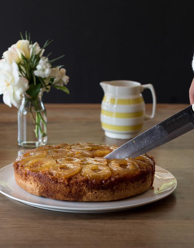 Milk and Honey: Caramel Apple Upside-Down Cake