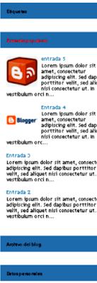 Blogger barra lateral acordeón con jQuery
