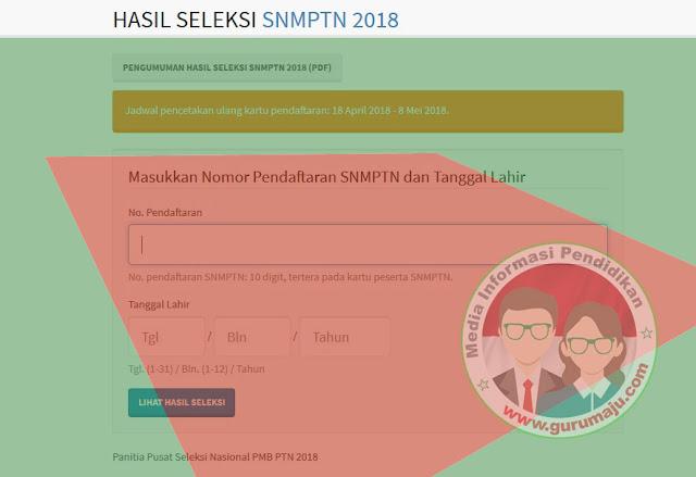 Cara Cek Hasil SNMPTN 2018 di pengumuman.snmptn.ac.id