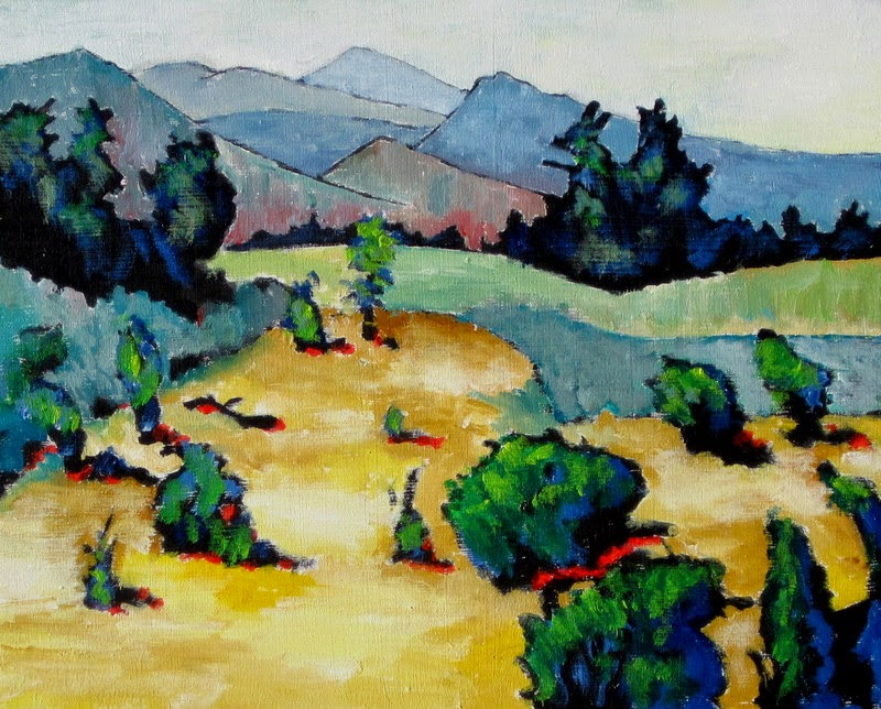 contemporary landscape painting | desert | mountains
