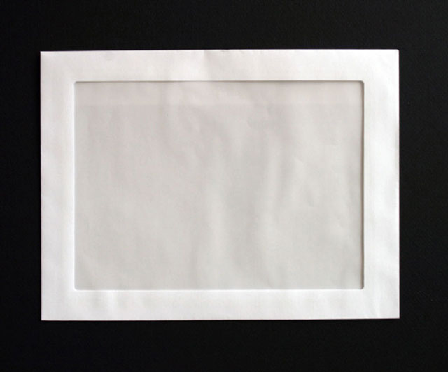 Envelopes printed 4 less 9 x 12 full view booklet envelope for Window envelope design