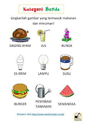 Melingkari Gambar Makanan dan Minuman