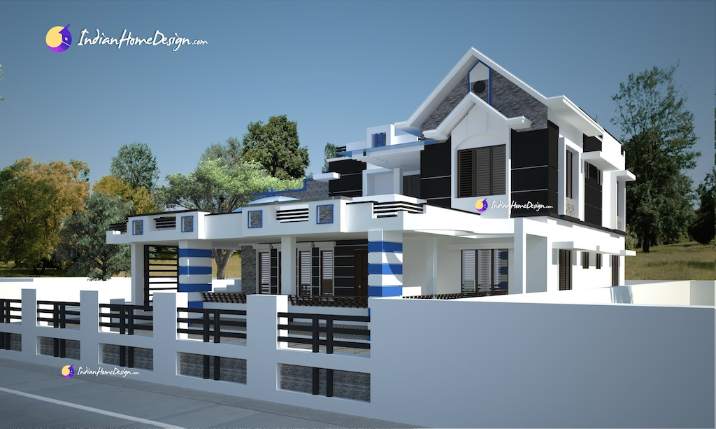 modern bungalow design, Exterior design, attractive indian house photos, kerala home designs,
