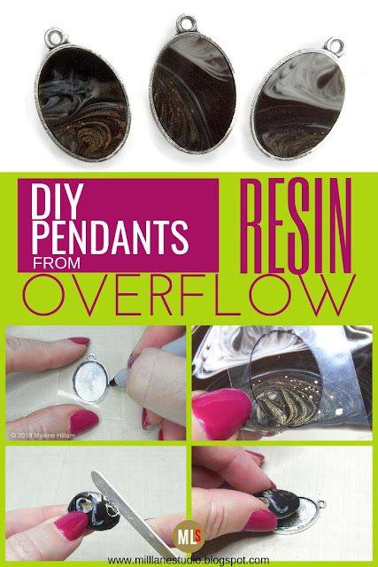 DIY resin overflow pendants project sheet