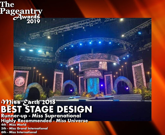Pageantry Awards 2019 Miss Earth Wins Best Stage Design