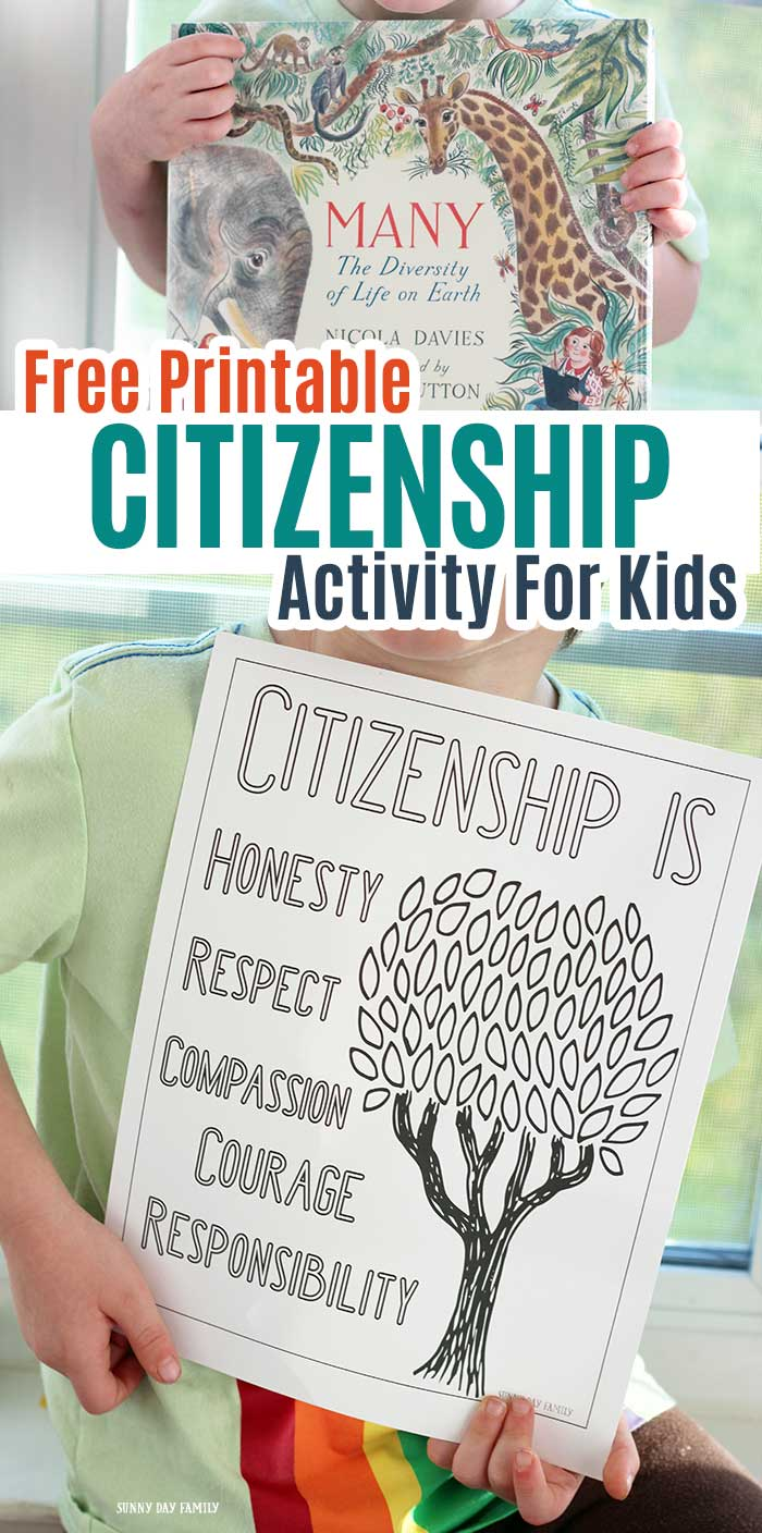 Free Printable Citizenship Activities For Kids Families