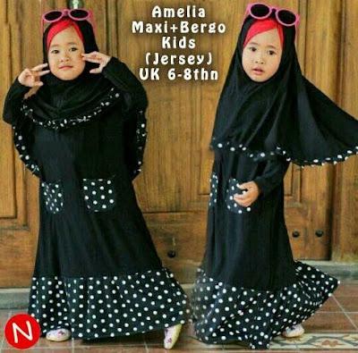 Jual Baju Anak Perempuan 2 In 1 Maxi Bergo Amelia (Kids) - 12324