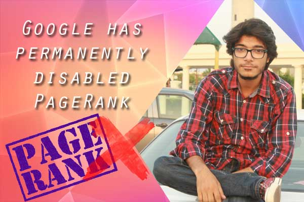 Google has permanently disabled PageRank
