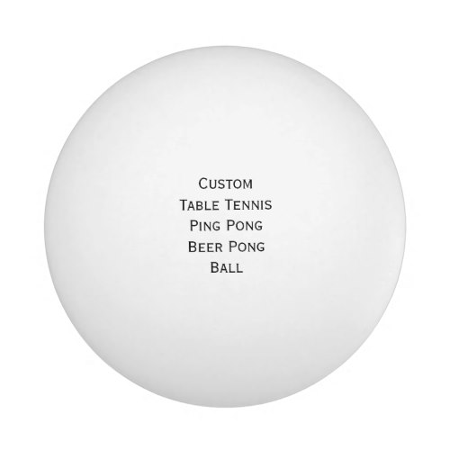 DIY Custom Table Tennis Beer Ping Pong Ball