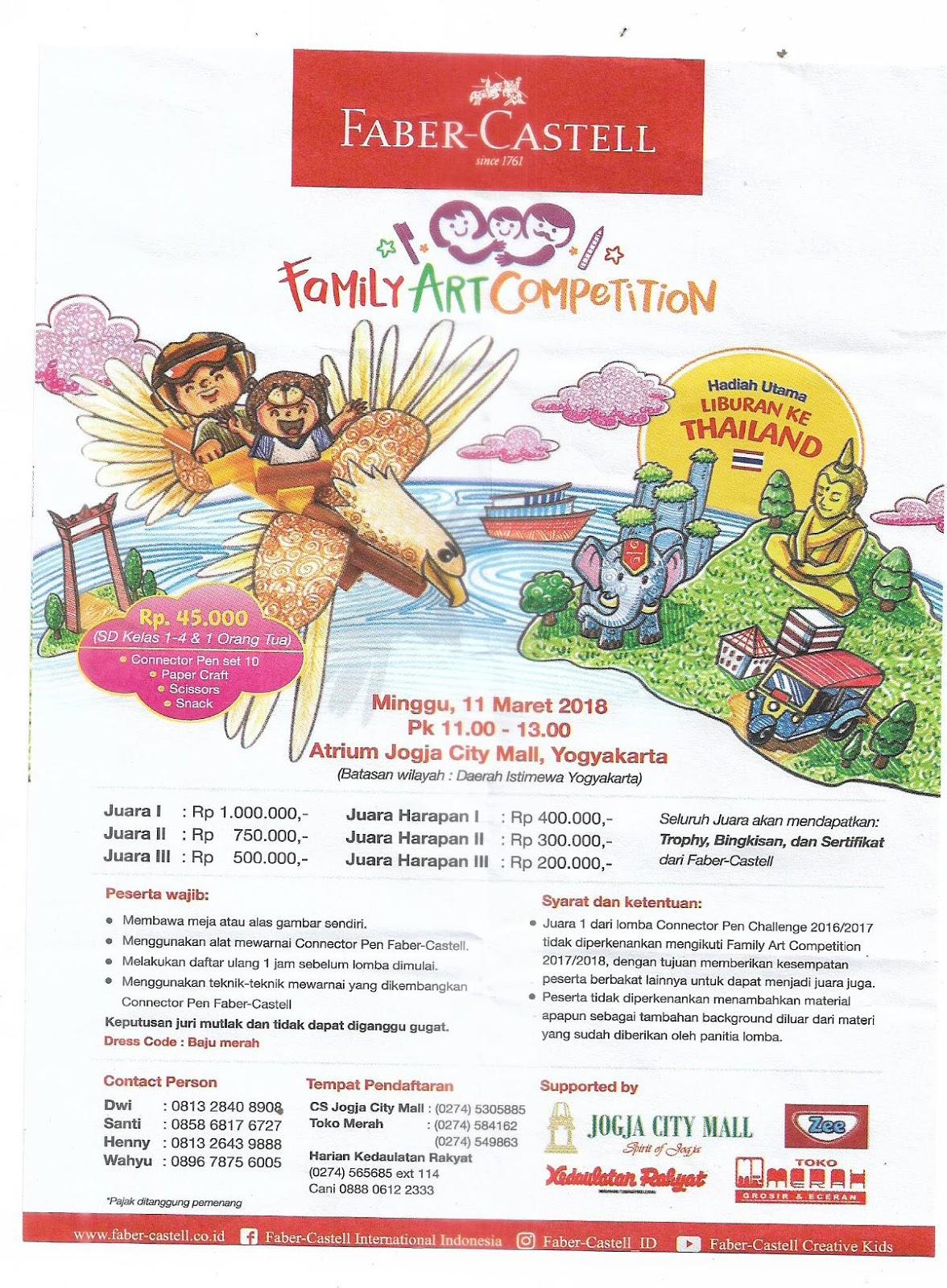 Lomba Mewarnai Fabel Castel Jogja City Mall 11 Maret 2018 Mom S