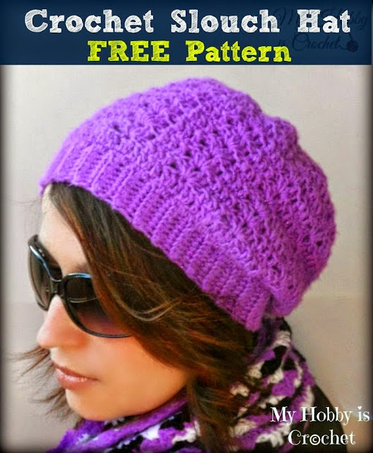 Hypnotic Heart Slouch - Free Crochet Pattern on myhobbyiscrochet.com