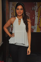 Tanya Hope in a whtie shirt and leggings at Song launch of Movie Patel Sir ~  Exclusive Celebrities Galleries 024.JPG
