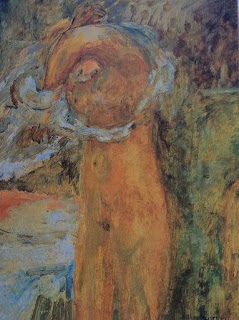 Pauline Boty, Untitled (golden nude)