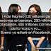 14 de Febrero 150 millones de personas se besaran, 250 millones  se abrazaran, 500 millones caminaran  de la mano y yo... Bueno yo estaré en Facebook.