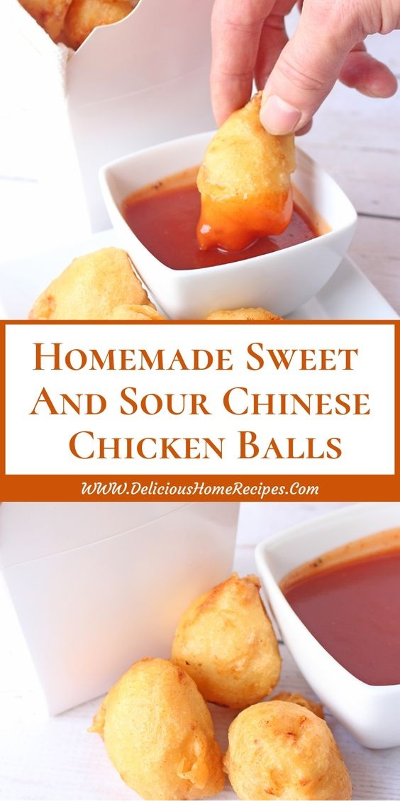 Homemade Sweet And Sour Chinese Chicken Balls