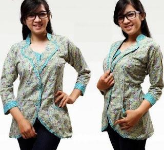 Kemeja batik 2017 modis elegan untuk remaja