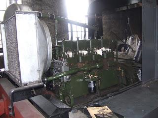 The Ruston 4VRH engine on 16th July 2016
