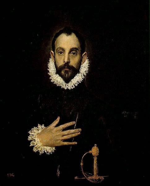 Cavaleiro com a Mão no Peito - El Greco e suas principais pinturas ~ Maneirismo