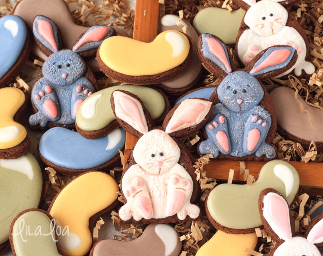 How to make decorated Easter Bunny Cookies
