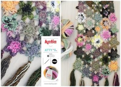 Chal de Flores a Crochet Azteca