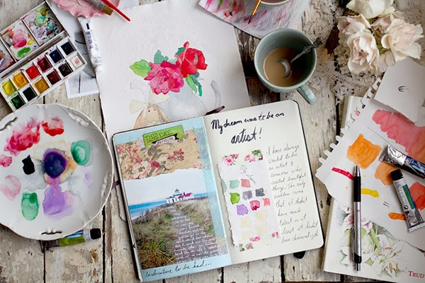 Art journalling with Annetta Bosakova